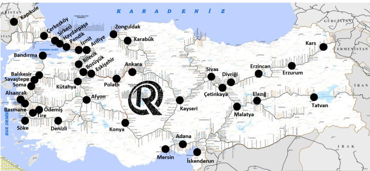 Train Stations in Turkey