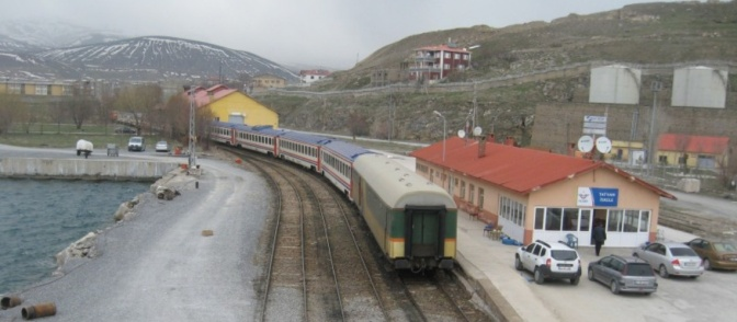 From Ankara to the east by train