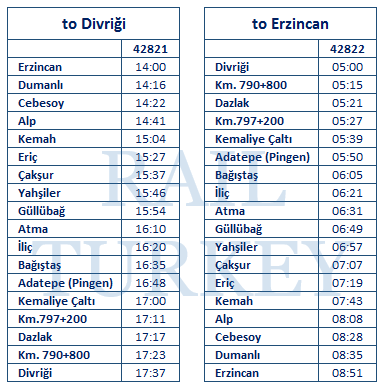 erzincan-divrigi-timetable