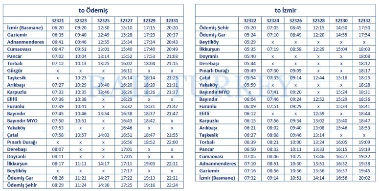 izmir-odemis-timetable