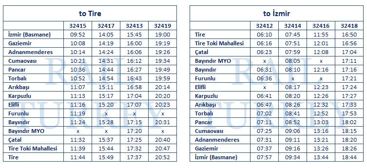 izmir-tire-timetable