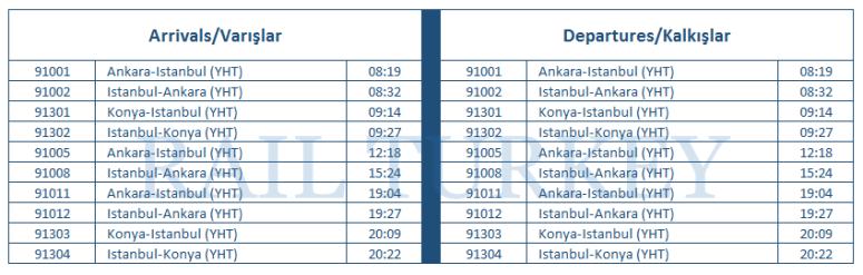 bilecik station timetable