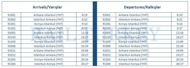 bilecik timetable