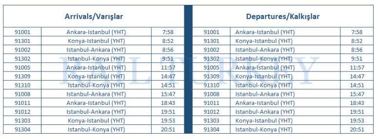 bozüyük timetable