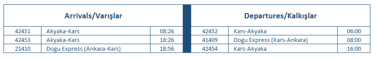 kars-timetable