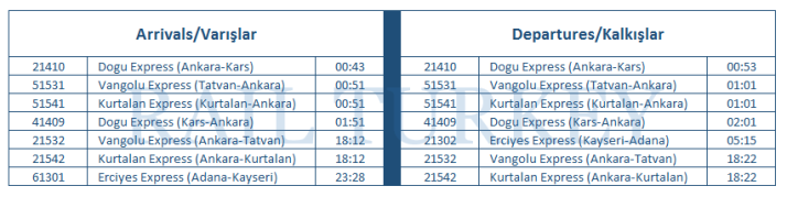 kayseri-timetable