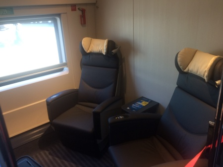 business compartments on velaro sets